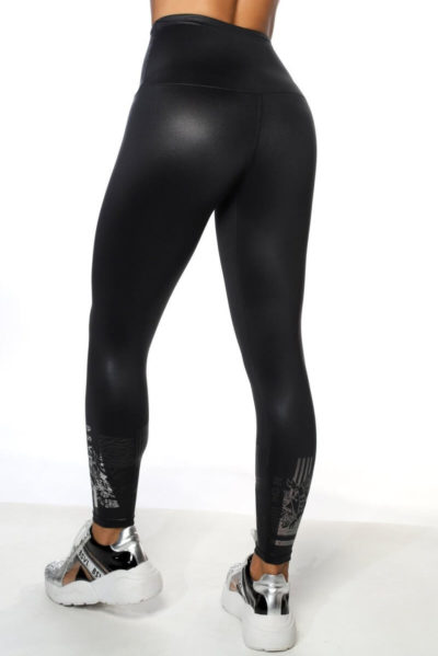 Calza deportiva de mujer Melman color gris atras