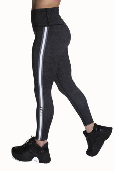 Calza deportiva de mujer Tutia color gris lado