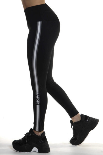 Calza deportiva de mujer Tutia color negro lado